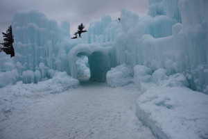 Entrance to Ice Castles