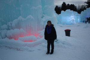 Monika at the ice castles